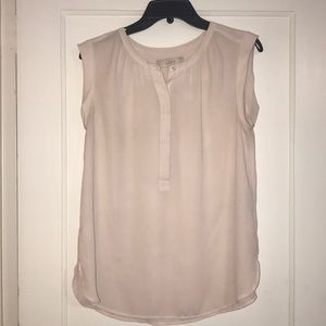 Light pink Ann Taylor LOFT flowy top/blouse
